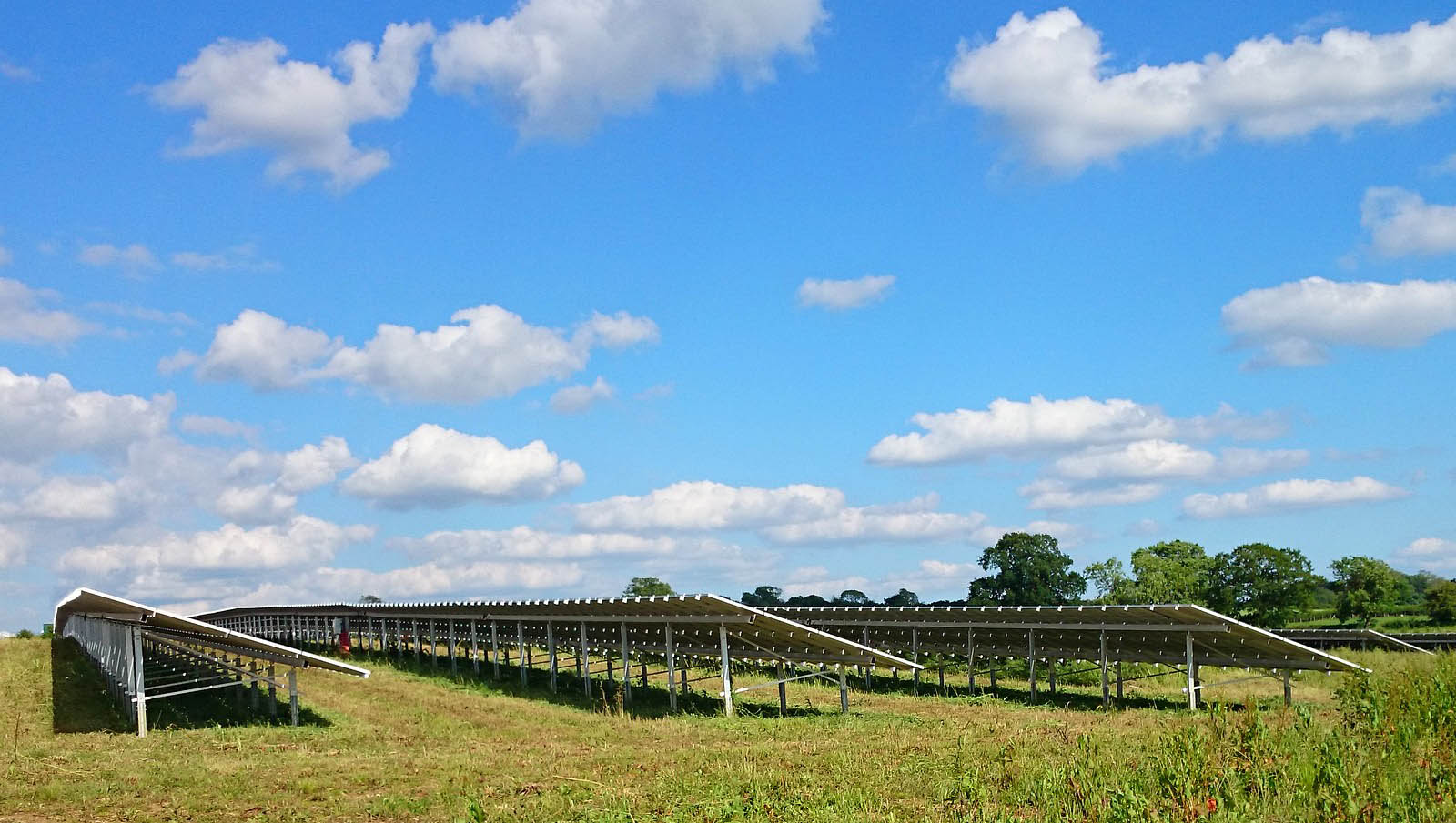 Large solar farm near Cambridge installed and maintained by Green Solar World