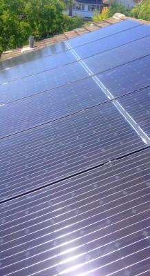 Clean solar panels at their peak